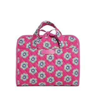 Vera Bradley Pink Swirls Flowers Hanging Bag